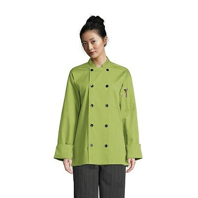 South Beach Short Sleeve Chef Coat Avocado Sizes XS-2XL, Uncommon threads 0415