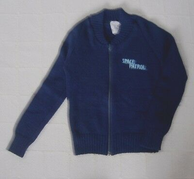 "Vintage Ladybird Zip-up Cardigan - Age 4 - Navy ""Space Patrol"" - Acrylic - New"