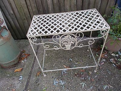 Vintage Wrought Iron/Metal Indoor/Outdoor Plant Flower Pot Stand/Patio Table