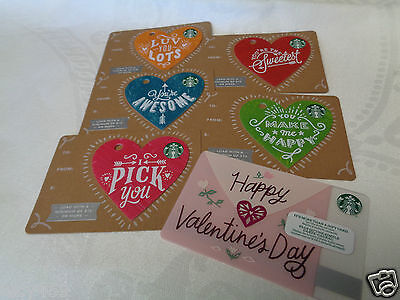 Starbucks New 2017 Valentines Die cut Hearts and Card
