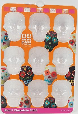 Day of the Dead Detailed Sugar Skull Chocolate Mold Candy Soap Crafts etc.