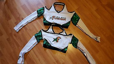 Green and White All Star Cheer Uniform (as is)