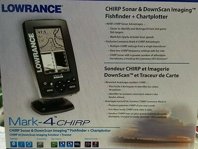 Lowrance Mark-4 Chirp GPS/Fishfinder w/ HDI Transducer #000-11824-001