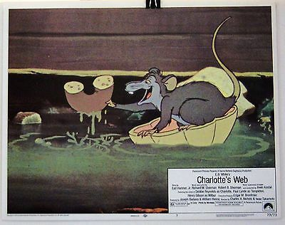 "Near Mint 11X14 Lobby Card #7  For 1973  Children's Classic  ""charlotte's Web"""