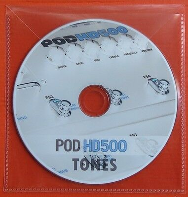 7.500 Patches Line6 POD HD 500 Custom Tone preset