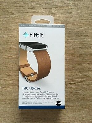Fitbit Blaze Camel With Stainless Steel Band and Frame Size: Large ⭕ Brand NEW