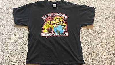 Authentic Guns And Roses G & R Concert T-Shirt Adult Xl 2002 World Tour Axl Rose