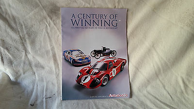 100 years of Ford Motor Racing Magazine
