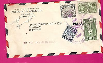 PANAMA AIRMAIL COVER....1940s