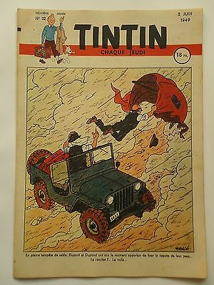 JOURNAL TINTIN n° 32  COUVERTURE DE  HERGE  02/06/1949