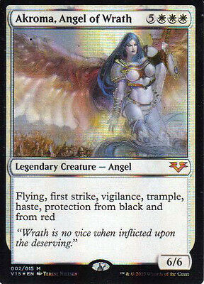 MTG 1x Foil Akroma, Angel of Wrath from FTV: Angels NM-La Place-