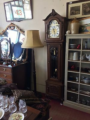 Carved Oak French Grandfather Clock