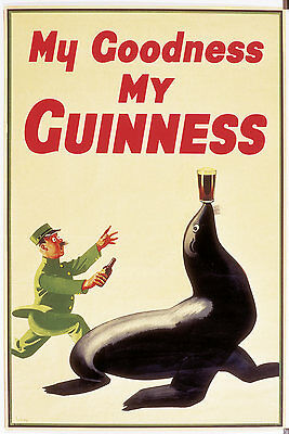 """""""my Goodness My Guinness"""" Rare Retro Reproduction Poster"""