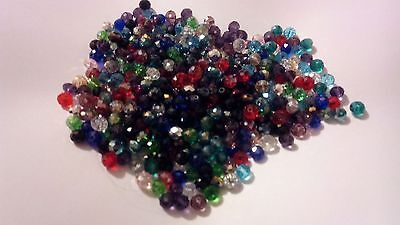 500 Mixed Glass Swarovski Crystal Bead 4x6mm Jewellery Making UK SELLER (7)