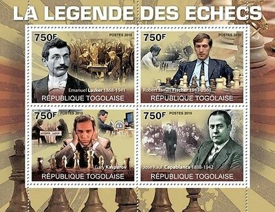 Togo, 2010. Legends of chess, MNH