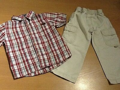 Boys Age 2-3 Year Designer Clothing Bundle Timberland Chino Trousers Roots Shirt