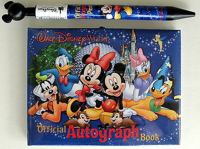 Walt Disney World Autograph Book & Pen Mickey Mouse & Friends Official NEW Parks