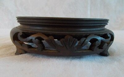 Antique/Vintage 20th Century Carved Wood Display Stand 3 Legs  Lot M