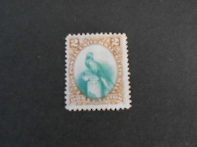 GUATEMALA 1 Green and Brown Bird Stamp Mint Hinged