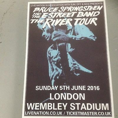 Bruce Springsteen - Concert Poster Wembley Stadium London Sunday 5Th June 2016