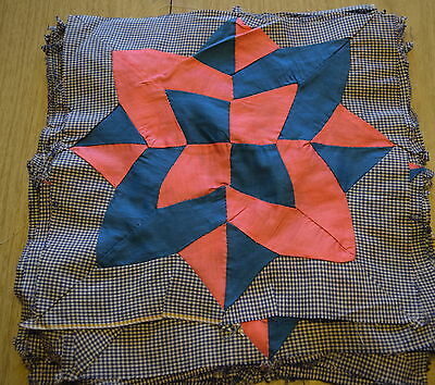 19 1920-30's Pink and Blue Star quilt blocks, bright colors