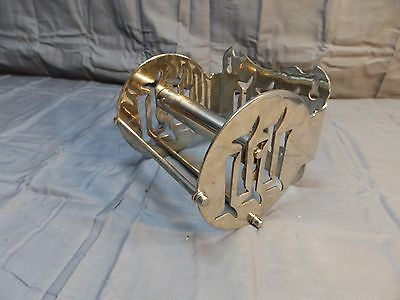 Antique Nickel Brass Toilet Paper Holder Old Vintage Bathroom Fixture 1326-16
