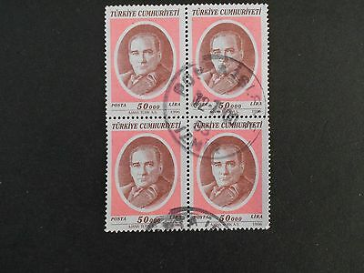 TURKEY  Block of 4 Stamps
