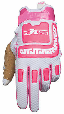 JT Racing USA™ Life-Line Pink/White MX Gloves