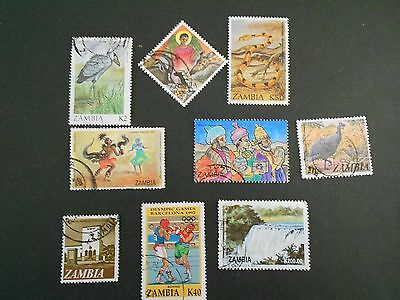 ZAMBIA 9 Various Stamps