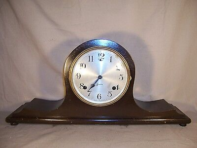 Antique Sessions Mantle Tambour Clock Deco Original Vintage