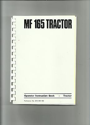 Massey Ferguson 165 Tractor New Owner Issue Pack (Instruction Book etc)