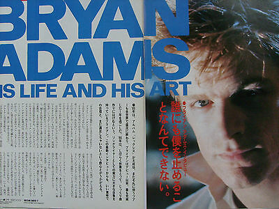 Bryan Adams - Clippings From Japanese Magazine Popgear