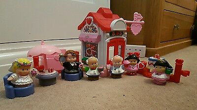 Fisher Price Little People  Sweet Valentine Bakery - Café Plus Wedding Figures.