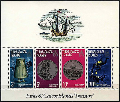 Turks & Caicos Is 1973 SG#MS378 Treasure MNH M/S #D42268