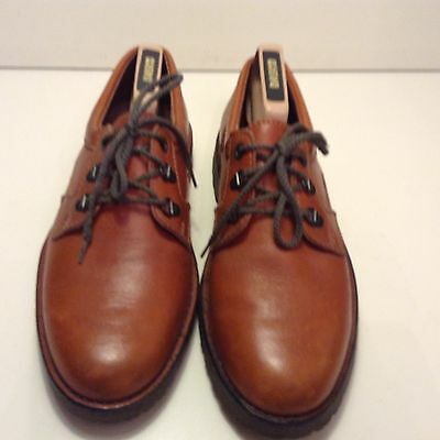 Mens Tan Leather Laces Formal Clarks Shoes Size UK 8 Used Once