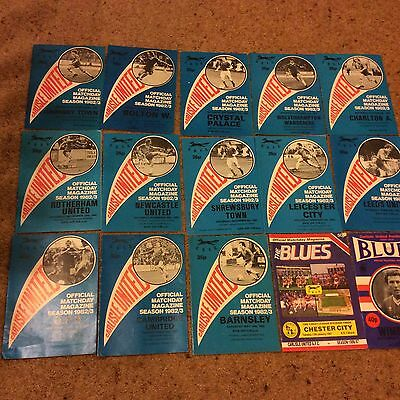 Joblot of Carlisle United programmes x 15 from 1980's