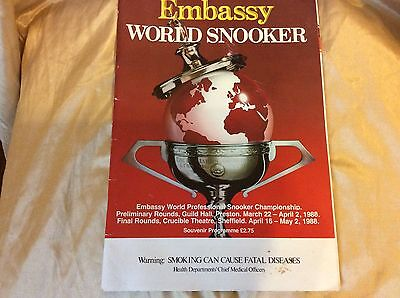 Embassy World Snooker Souvenir Programme 1988