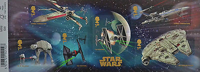 Star Wars vehicles miniature sheet mint stamps with barcode