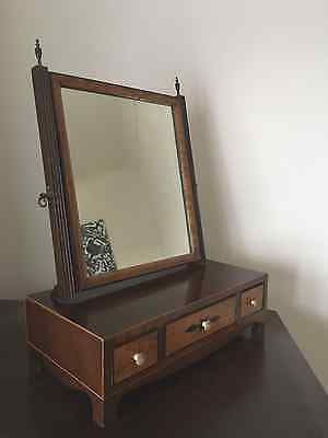 Antique table-top dressing table mirror