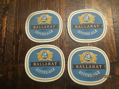 4 only 1950,s BALLARAT Brewery,BITTER ALE  collectable COASTERS