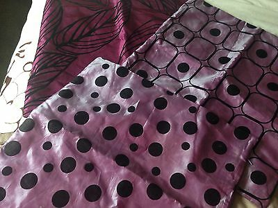 3 Purple And Black Cushion Covers