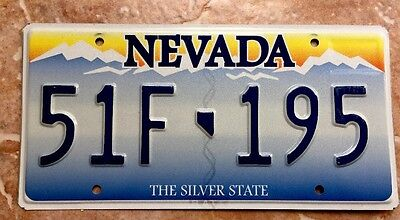 Nevada Original License Plate Embossed, Excellent Condition, The Last Version NV