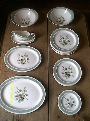Plates Dinner service Woods Ware Clovelly 20 piece c.1960's Wood & Sons