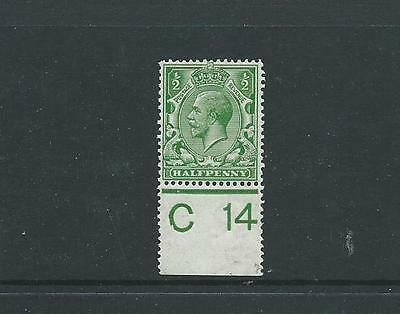 ROYAL CYPHER 1/2d GREEN CONTROL C14 PERF MARGIN FINE MOUNTED MINT