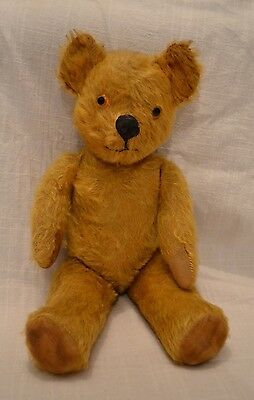 "VINTAGE Pedigree Teddy Bear Fully Jointed With Label Old Mohair RARE 16"" Lovely"