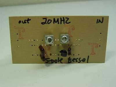 Bessel 20MHz Custom 50 ohms in - out Filter 5 pole Housing
