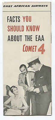 East African Airways Eaa Comet 4 Brochure E.a.a. Detailed Seat Map