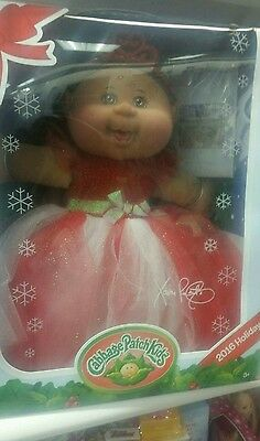 NWOB Cabbage Patch Doll 2016 Holiday Sparkly Dress and Tiara Brown Hair & Eyes