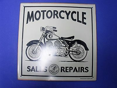 Collectible Motorcycle Metal Sign