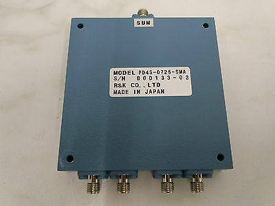 Power Divider, R&K (Japan) PD4S-0725, 0.7-2.5 GHz